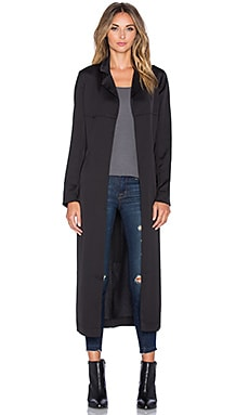 MINKPINK Sweet Nights Trench Coat in Black
