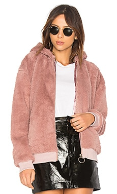 Fluffy Faux Fur Hooded Jacket