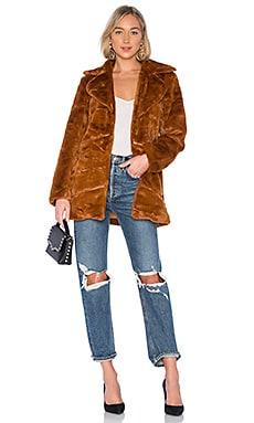 Pumpkin Spice Faux Fur Coat MINKPINK $117