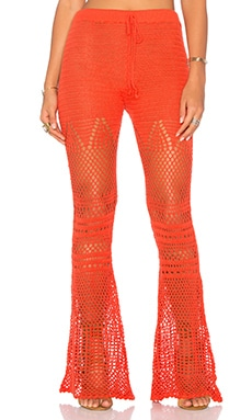 MINKPINK Mixed Messages Pant in Terracotta