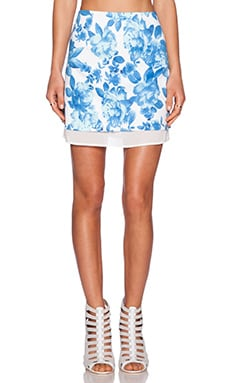 MINKPINK Blue Berry Bloom Skirt in Multi