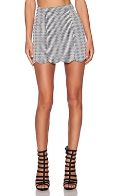 MINKPINK Sweetheart Mini Skirt in Black & White