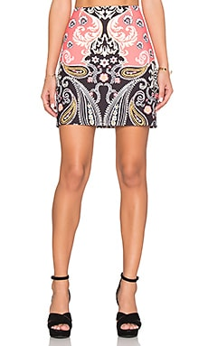 MINKPINK Paisley Picture Mini Skirt in Multi