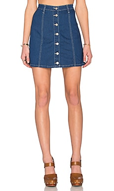 All I Want Button Up Skirt in Denim