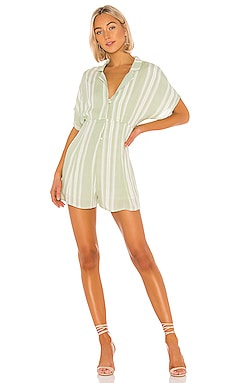 On The Line Shirt Romper MINKPINK $79 NEW ARRIVAL