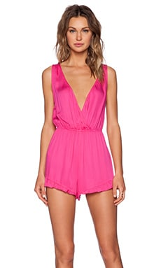 MINKPINK Sweet Dhalia Playsuit in Magenta