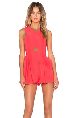 MINKPINK Hugs N Kisses Playsuit in Neon Coral