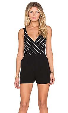 Moonshine Wrap Front Romper in Multi