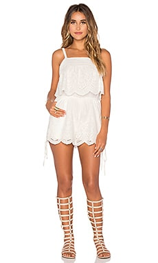 Crescent Moon Romper in Off White