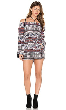 MINKPINK Secret Keeper Romper in Multi