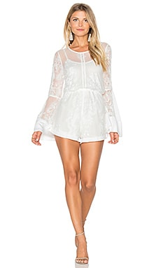 MINKPINK Sweetest Sound Romper in White & Cream