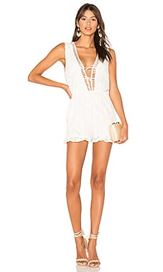 Palace Playsuit in Off White