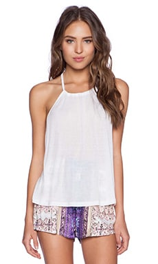 MINKPINK After Party Low Back Tank in White
