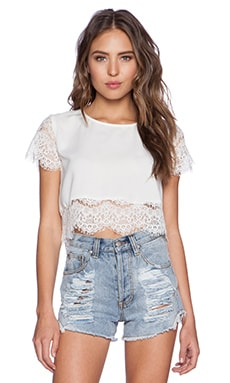 MINKPINK Atlanta Top in White