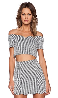 MINKPINK Sweetheart Crop Top in Black & White