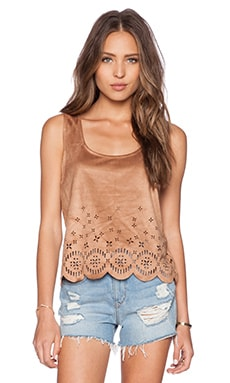 MINKPINK Lackawanna Blues Tank in Tan