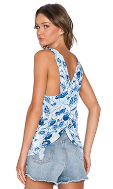 MINKPINK Oceans Edge Cross Back Top in Multi