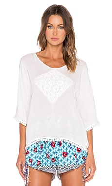 MINKPINK Believer Of Mermaids Open Back Top in White