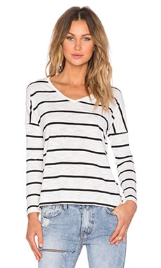 MINKPINK Day By Day Long Sleeve in Black Stripe