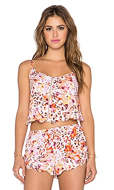 MINKPINK Sea Animal Scalloped Cami in Multi