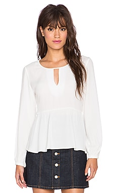 MINKPINK Stand By Me Blouse in Cream