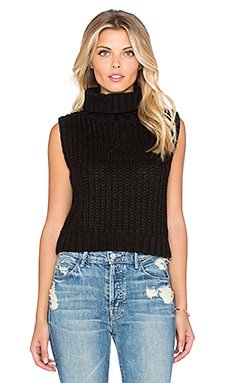 MINKPINK Another Night Crop Top in Black