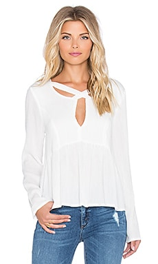 MINKPINK Dynamite Cross Front Blouse in White