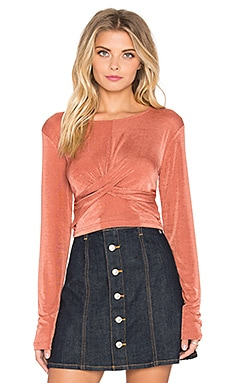 MINKPINK Forbidden Love Crop Top in Dusty Rose