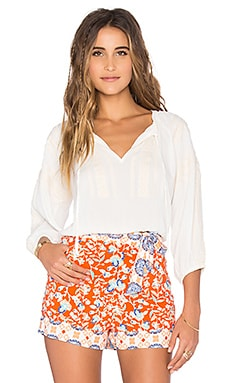 MINKPINK Wild Traveler Crop Top in Off White