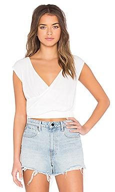 Endless Road Wrap Top in White
