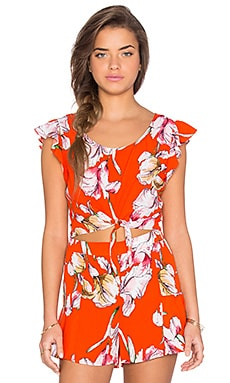 Tangerine Dream Ruffle Top