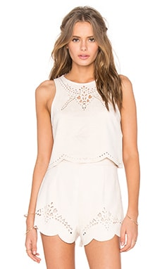 MINKPINK Mandolin Lasercut Tank in Off White