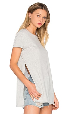 MINKPINK Take Two Tee in Light Grey Marle