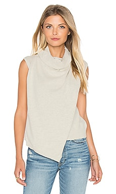 MINKPINK Temptation Wrap Top in Cream Marle