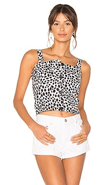 Dalmatian Button Front Apron Top