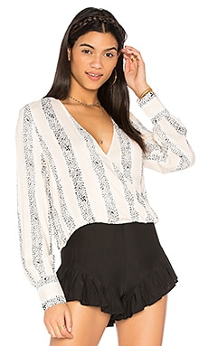 Sundowner Wrap Blouse in Multi