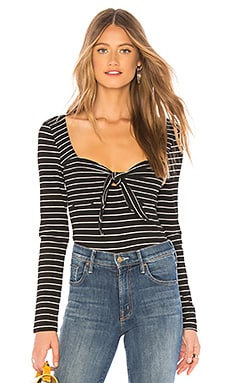 Morgan Stripe Rib Top MINKPINK $69