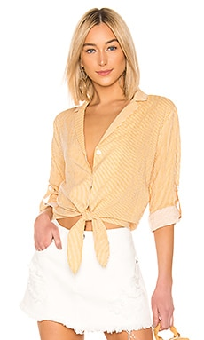 ELIZA STRIPE TIE 셔츠 MINKPINK $48