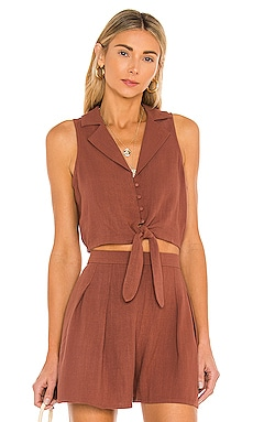 Rococo Cropped Tie Shirt MINKPINK $69