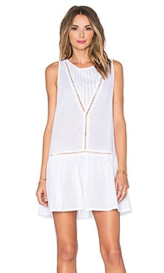 MINKPINK Beach Break Drop Waist Dress in White