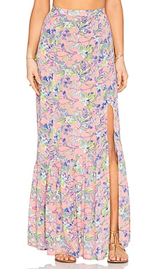MINKPINK Staring At Sunsets Maxi Skirt in Multi