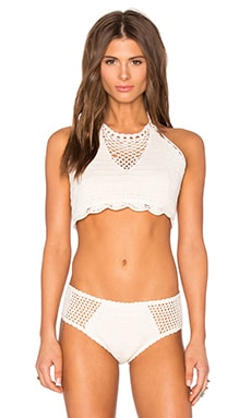 Dream Weaver Bikini Top in Cream