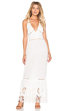Splendor Falls Dress in White