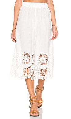 Splendor Falls Culottes in White
