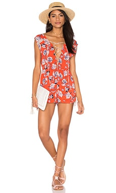 MINKPINK Floating in The Tropics Romper in Multi