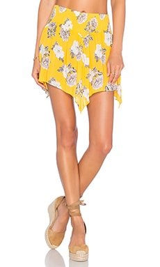 MINKPINK Spread Like Wildflowers Skirt in Multi Yellow