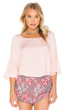 MINKPINK Pool Side Top in Pale Peach