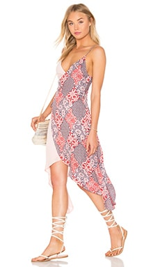 MINKPINK Wild World Wrap Dress in Multi