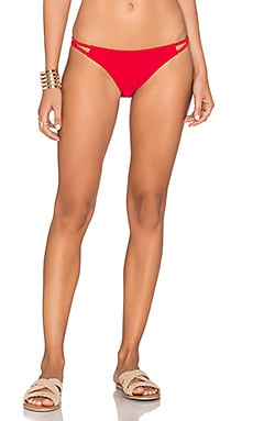 Naive Heart Bikini Bottom in Ruby Red