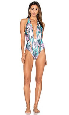 Texta Tropical Plunge One Piece Swimsuit